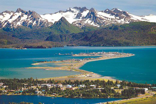 photo of Homer Spit, Kachemak Bay and mountains